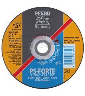 Disco desbaste acero/inox E L PSF - PFERD