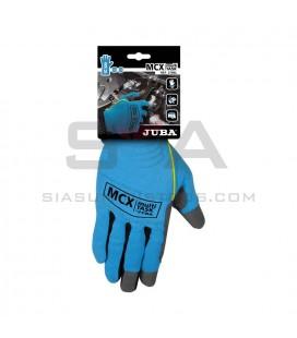 Guante de cuero sintético en palma con dorso de Elastano (Spandex) - JUBA H270BL