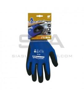 Guante de Nylon®/Elastano recubierto de nitrilo en combinación con poliuretano de base acuosa T-Touch® - JUBA H4115