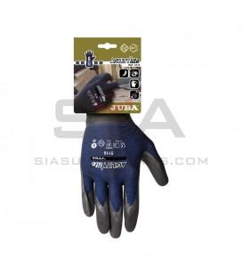 Guante de Nylon® + elastano (spandex) sin costuras con recubrimiento de nitrilo foam NFT - JUBA H5118
