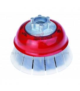 Cepillo TAZA 65 mm, acero trenzado 0,50mm, con guarda, HSTG - JAZ