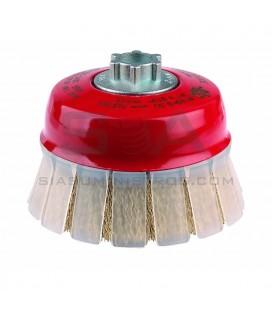 Cepillo TAZA, acero latonado ondulado, con guarda TOG - JAZ