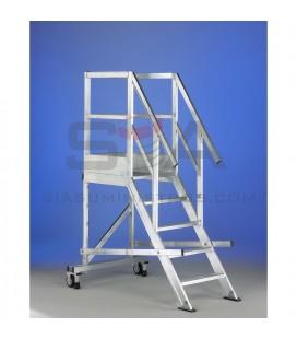 Escalera con plataforma de fabricación a medida - SVELT TORRETA