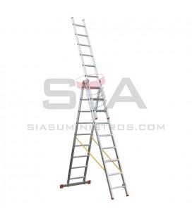 Escalera doméstica de aluminio de tres tramos - SVELT OK3