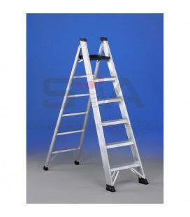 Escalera de doble subida con peldaño ancho y estrecho - SVELT P2