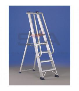 Escalera de almacén con plataforma de aluminio - SVELT REGINA VIP