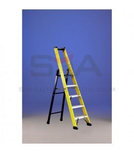 Escalera de fibra con plataforma y guarda-cuerpo - SVELT SMART
