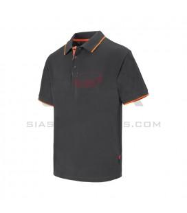 Polo bicolor con Raya marga corta - VELILLA 105505