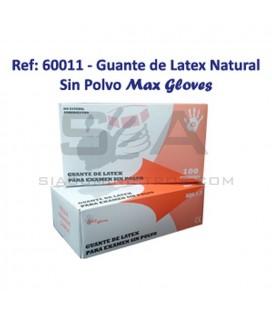 Guante desechable blanco de látex natural sin polvo 5,7 gr - PROLIMAX 60011