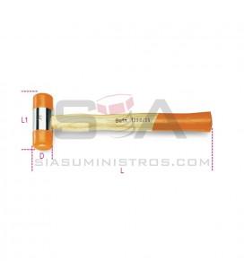 Mazo de cabeza intercambiable en material plástico mango en madera - BETA 1390