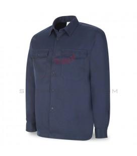 Camisa ignífuga y antiestática azul marino ALGODÓN - MARCA 988-CAIA/N