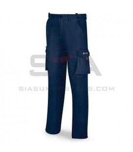 Pantalón elástico, multibolsillos, color marino - MARCA 588-PELASTA