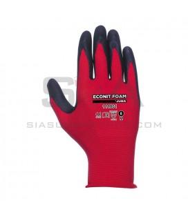 Guante de Nylon® + fibra Lycra® sin costuras con recubrimiento de nitrilo foam en palma - JUBA 111801