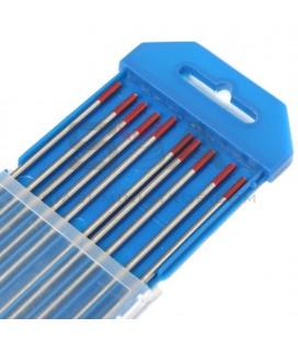 Electrodo tungsteno ROJO, caja de 10 unidades