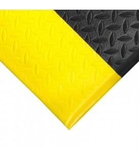 Alfombra antifatiga Orthomat® Diamond entornos secos Negro/Amarillo - COBA (x Metros lineales)