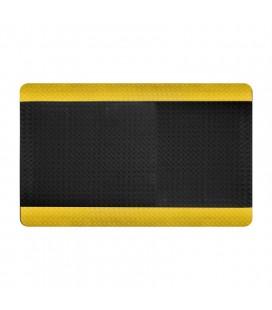 Alfombra antifatiga y antideslizante Deckplate para entornos exigentes Negro/Amarillo - COBA